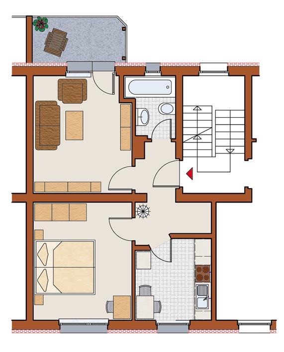 bs gliesmarode 2 zi wohnung 50 0 qm wohn und zweckbau niedersachsen gmbh. Black Bedroom Furniture Sets. Home Design Ideas